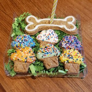 Gourmet Dog Treats – Mini Cupcake Birthday package