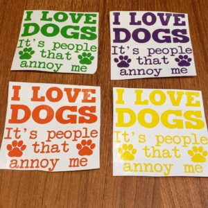 I Love Dogs decal