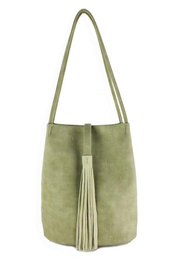 Shoulder Bag w/ Suede Tassel