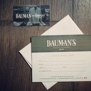 Bauman's of Mount Vernon Iowa Gift Card - Shop Iowa - shopiowa.com - Marketplace website for Iowa's Brick & Mortar Retailers
