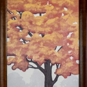 Yellow Tree Artwork Framed