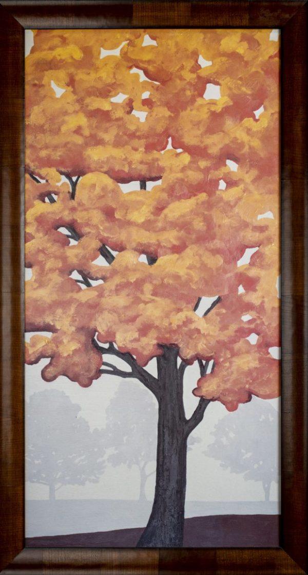Yellow Tree Artwork Framed