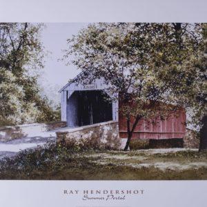 Covered Bridge Summer Portal Print by Ray Henderson