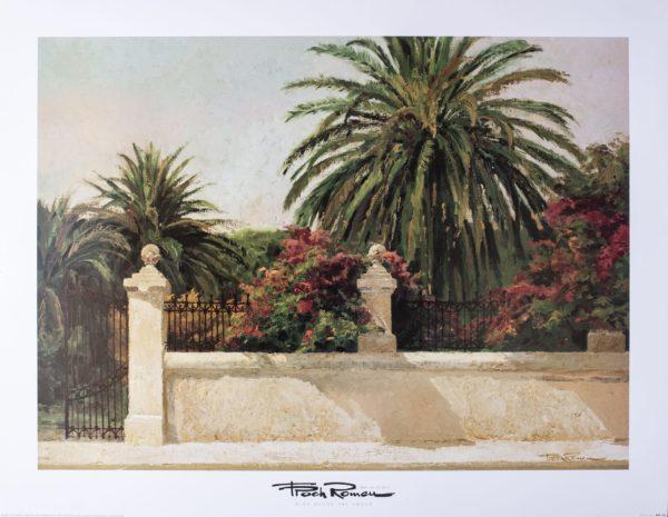 Palm Fence Print