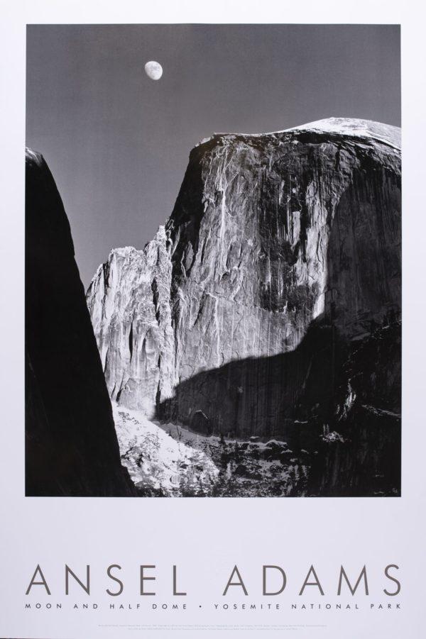 Ansel Adams Moon & Half Dome Yosemite Print