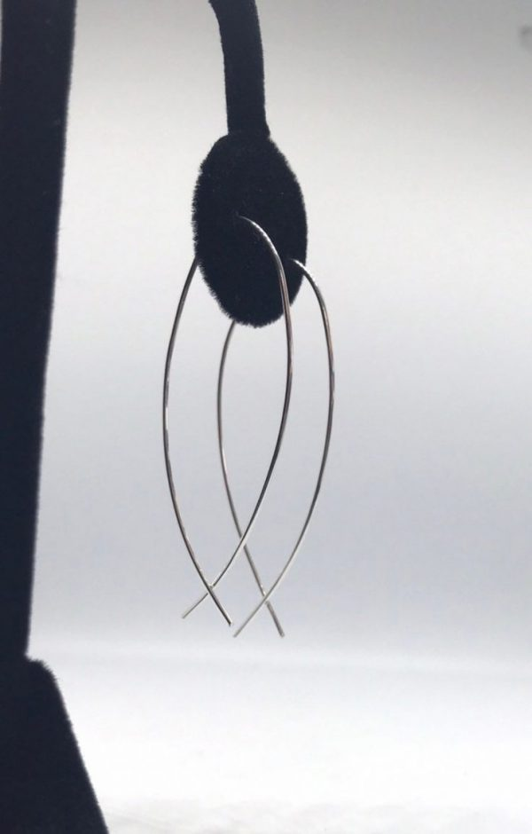 Threader Earrings in Silver, Gold, or Rose Gold