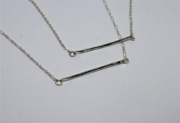 Uploaded ToSterling Silver Bar Necklace