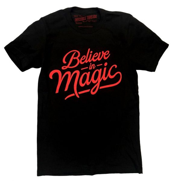 Believe in Magic Black Tshirt