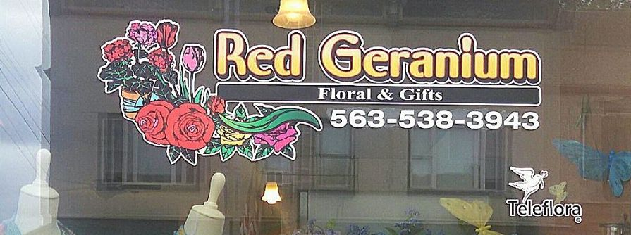 Red Geranium Floral and Gifts Lansing Iowa