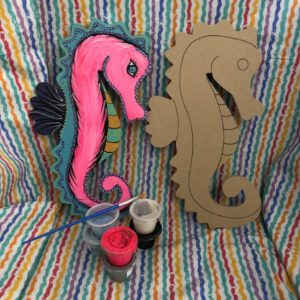photo of Wood Seahorse Art To Go Kit