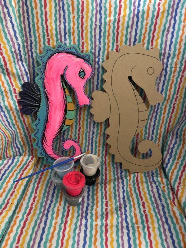 photo of Wood Seahorse Art To Go Kit