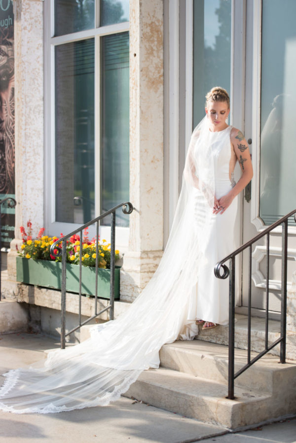 Cathedral Wedding Veil Lace Edge