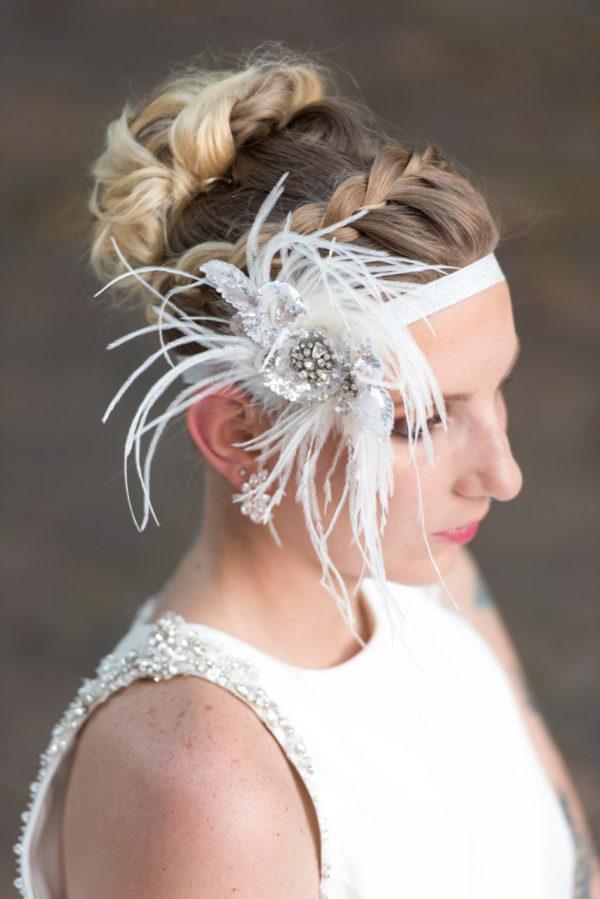 Ostrich Feather Headpiece, Great Gatsby Headpiece