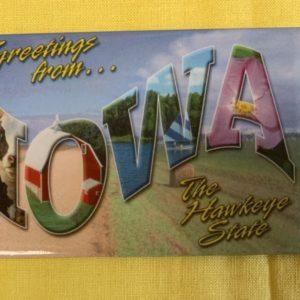 Iowa Souvenir Magnet