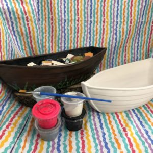 PHoto of Ceramic Boat Art To Go Kit