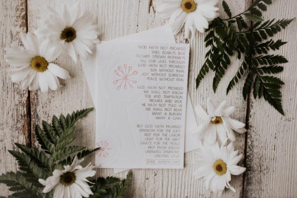 """What God Hath Promised"" Letterpress Greeting Card"