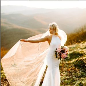 photo of Wedding Cape Veil, Wedding Cape Cathedral Length
