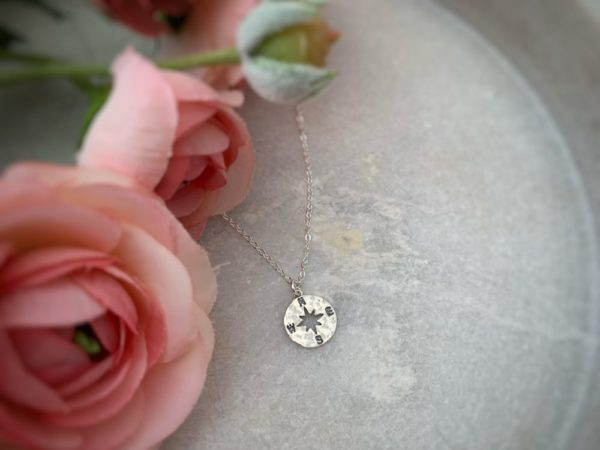 Compass Necklace–Sterling Silver