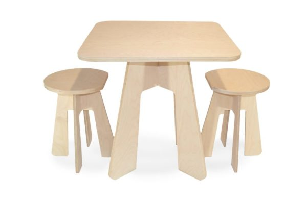 Kids Table with 2 Stools