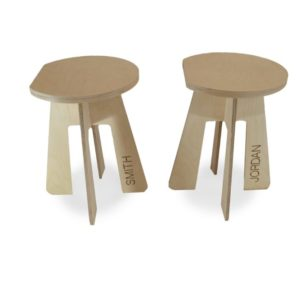 photo of Set of 2 Personalized Wood Stools on Shopiowa.com