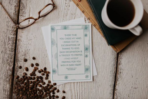 """""""Exclamations of Thanks"""" Letterpress Greeting Card"""