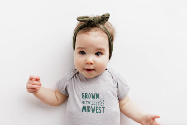"""""""Grown In The Midwest"""" Baby, Toddler, Youth"""