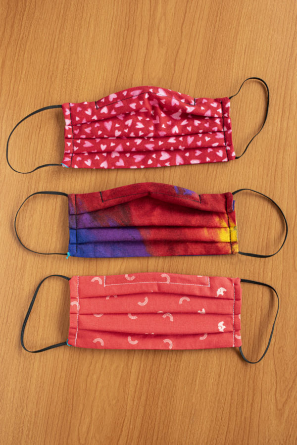 Masks – washable 100% cotton masks in a variety of patterns and colors