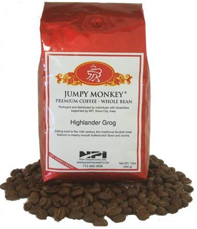 Photo of Highlander Grog - Whole Bean Coffee from Jumpy Monkey on Shopiowa.com