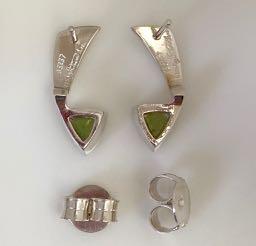 Peridot Earrings in Sterling Silver