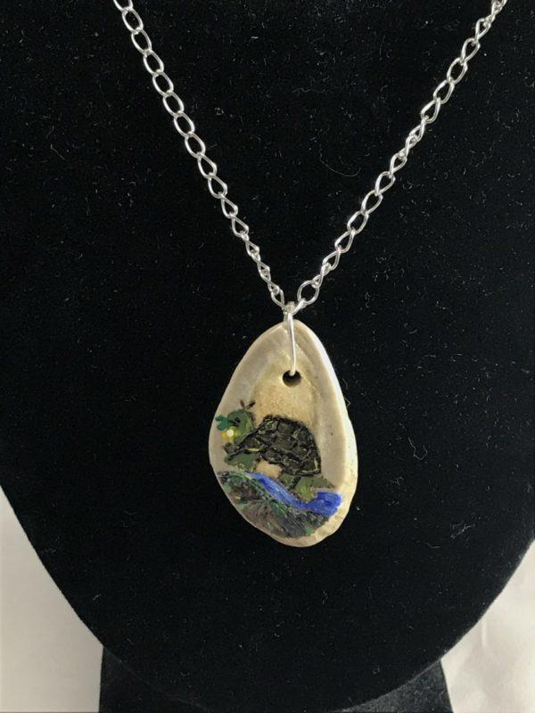 Deer Antler Engraved Necklace