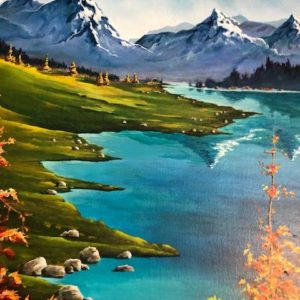 Mountain Reflections Acrylic Painting by Cris Sell from dKW Art Gallery on shopiowa.com