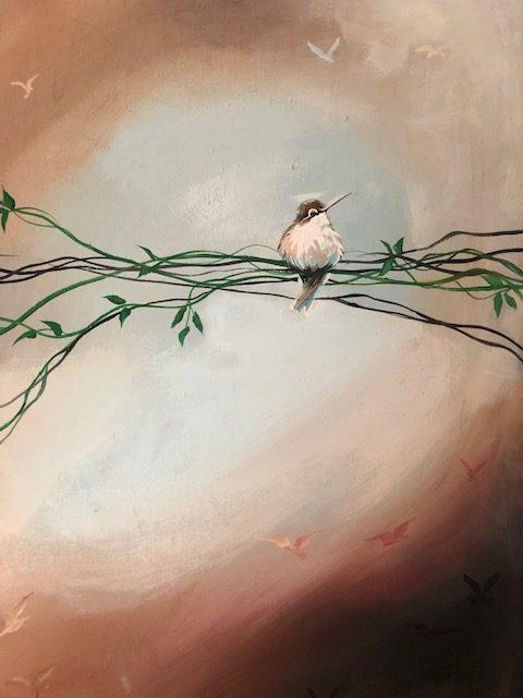 """Home"" Bird painting by Deb Weiser from DKW Art Gallery on Shopiowa.com"