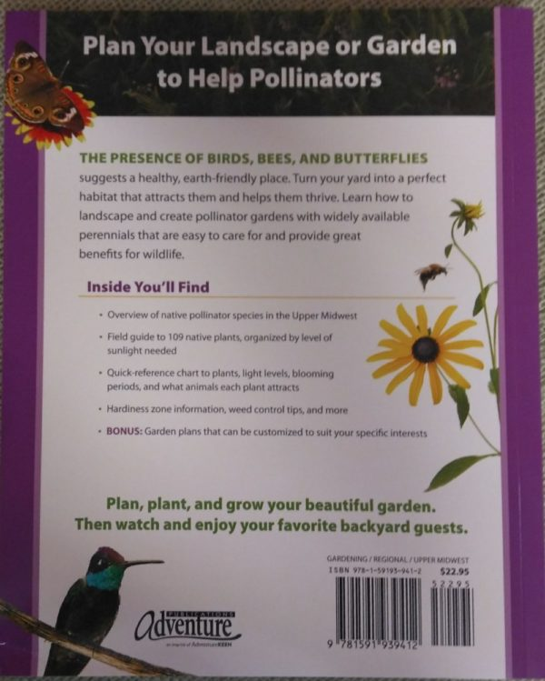 Book -Native Plant Gardening in Midwest for Birds, Bees & Butterflies
