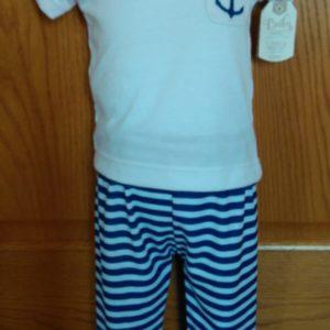 photo of Infant Boys Nautical Pants and Tshirt Set on shopiowa.com