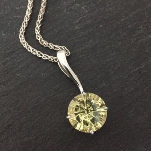 lemon quartz pendant in sterling silver