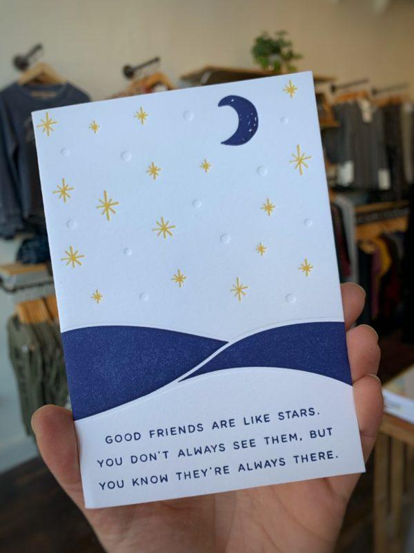 """Good Friends"" Letterpress Greeting Card"