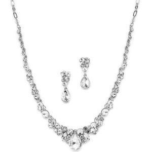 Regal Crystal Bridal Necklace & Earring Set