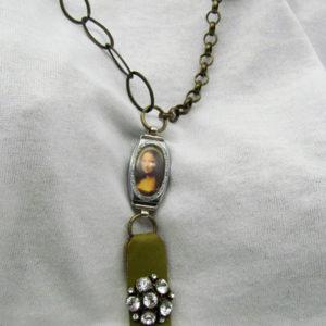 Mona Lisa Vintage Watch Necklace