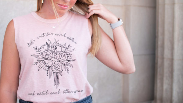 """""""Let's Root For Each Other"""" Relaxed Women's Tank"""