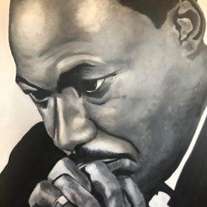MLK Oil Painting by Chris Robbins from DKW Art Gallery on Shopiowa.com