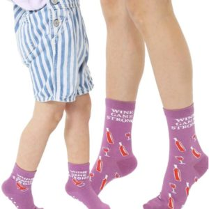 Wine Game Strong Socks - Whine Game Strong Socks Mom & Mini Me
