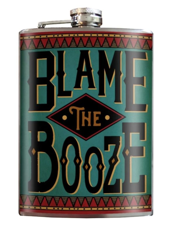 photo of blame the booze flask