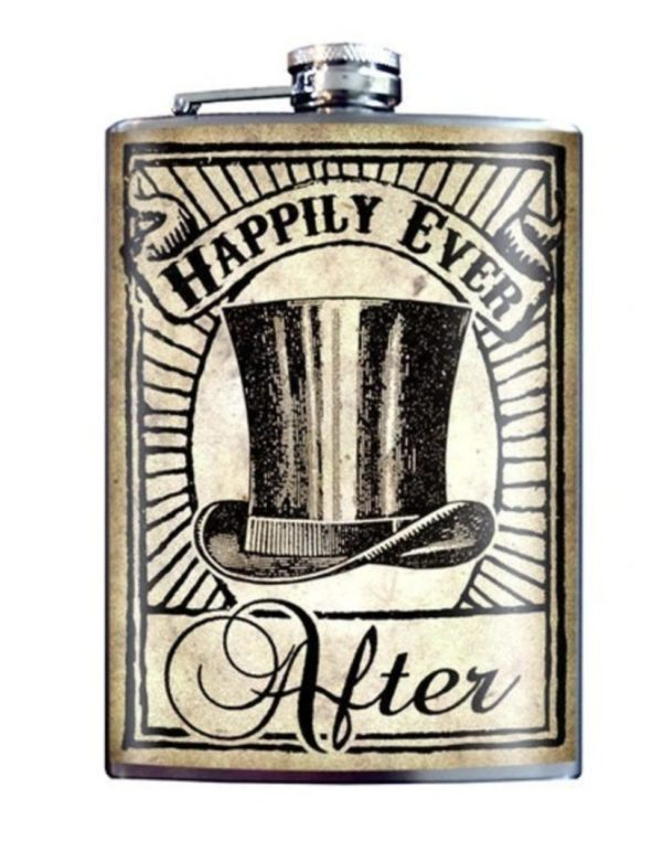 Grooms Happily Ever After Flask
