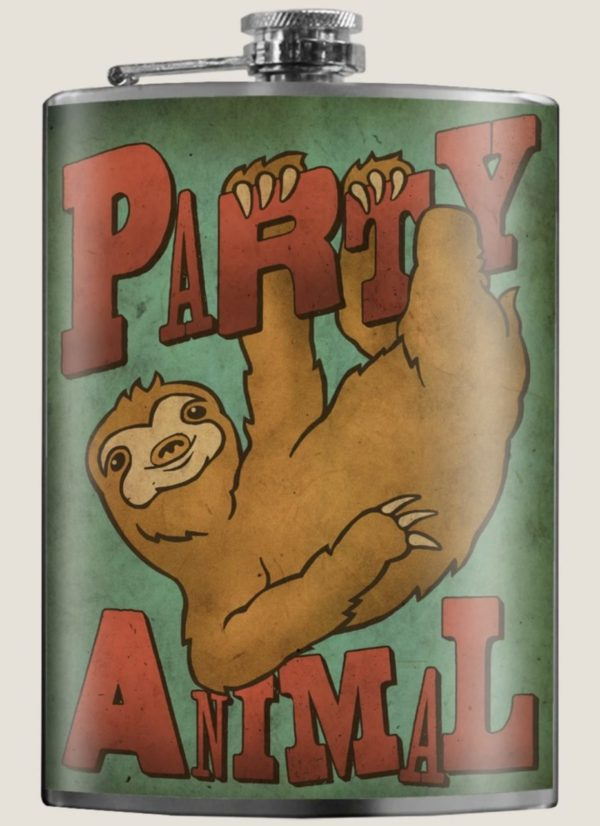 Photo of Party Animal Sloth Flask on Shopiowa.com