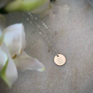 Waves Necklace– Sterling Silver or 14K Gold Filled