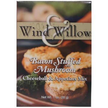 Wind & Willow Bacon Stuffed Mushroom Cheeseball and Appetizer Mix