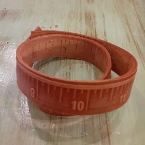 Leather Ruler Bracelet