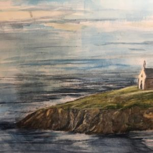 Church by the Sea Watercolor painting by Dave Stauffer from DKW Gallery on Shopiowa.com