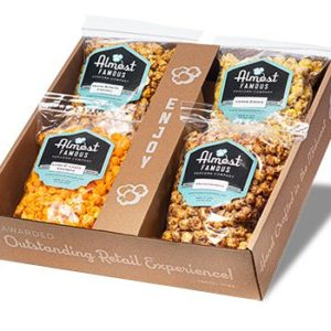 The Fab Four Gourmet Popcorn Gift Box Set