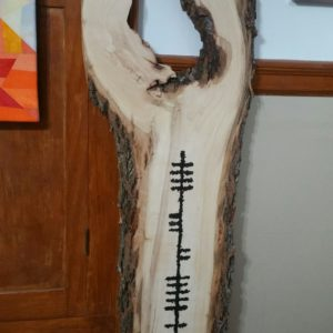 "Large Wood Irish ""Welcome"" Carving in Wood by Mark Weiser from DKW Gallery on shopiowa.com"
